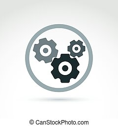 Vector illustration of an organization system, strategy...