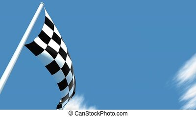 Checkered flag - This is a very realistic 3D render