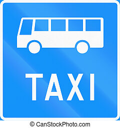 Bus And Taxi Lane in Finland - Road sign 541b in Finland -...