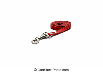 dog leash isolated on white background