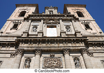 Toledo - Jesuit Church in Toledo - beautiful facade Spain,...