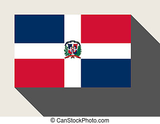 Dominican Republic flag in flat web design style.