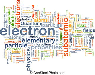 Electron background concept - Background concept wordcloud...