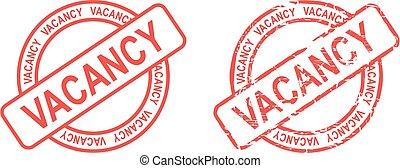 vacancy stamp sticker circle - vacancy stamp sticker in...