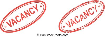vacancy stamp sticker in vector format very easy to edit