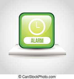 alarm button design, vector illustration eps10 graphic