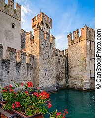 Castle Sirmione - A Scaliger Castle (13th Century) with...