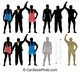 Wrestler winner - Sport illustration of the wrestler winner....