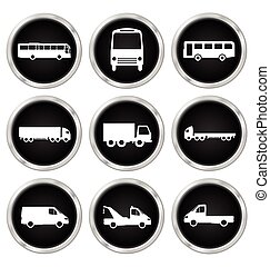 Commercial vehicle icons - Monochrome commercial vehicle...