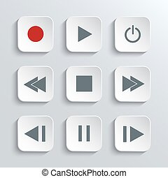 Media player control  icon set