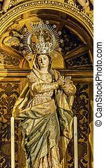 Mary Crown Statue Basilica Santa Iglesia Collegiata de San...