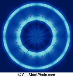 Abstract blue circle spin and move technology background
