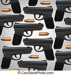 Gun And Bullet Background - Gun and bullet background for...