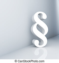 Paragraph - Rendering of a white paragraph symbol in a...