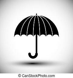 Umbrella vector simple single color icon.