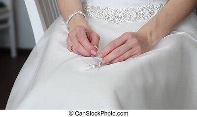 wedding ring on brides finger Sofia