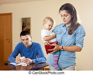 Financial problems have man and wife with baby