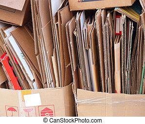cartón, reciclaje