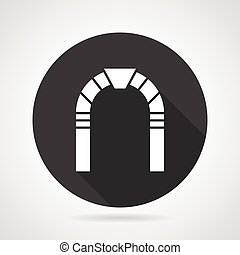 Round arch black vector icon - Flat black round vector icon...
