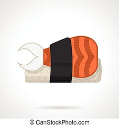 Sushi bento flat vector icon - Flat color design vector icon...