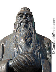 Confucious Statue - Bronze statue of the Chinese...