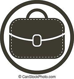 Bag vector icon, woman purse