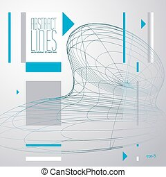 Abstract lines vector illustration, communication and digital technology abstract background, clear eps 8 vector.