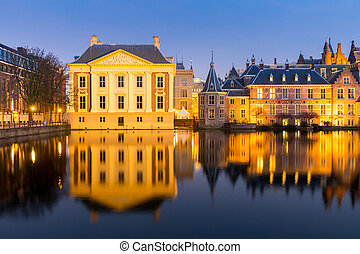 Natherlands Parliament Hague - Binnenhof palace, place of...
