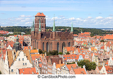 Gdansk - Poland - View on the city of Gdansk in Poland The...