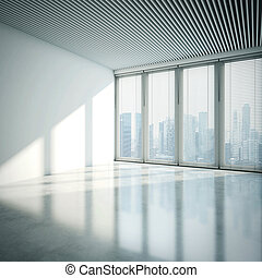 White office interior. 3D rendering