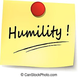 humility sign - illustration of humility yellow note concept...