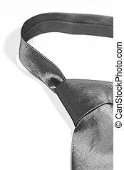 Detail of a grey necktie