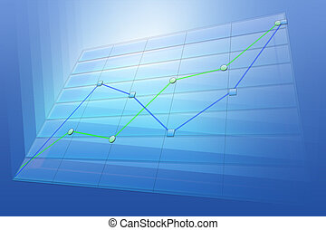 positive business trend chart - Positive business trend...