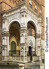 Cappella, Di, plaza, Siena, Italy,