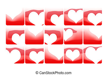Broken hearts Abstract color background