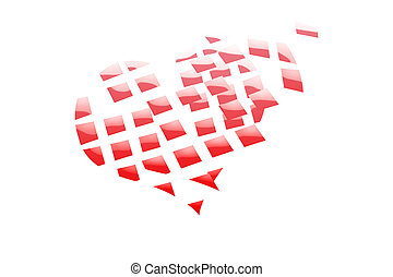 Broken heart Abstract color background
