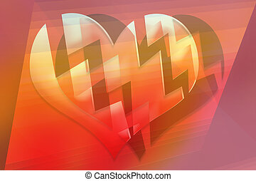 Broken hearts. Abstract color 