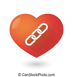 Heart icon with a chain