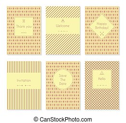 Set of vector card templates or brochures