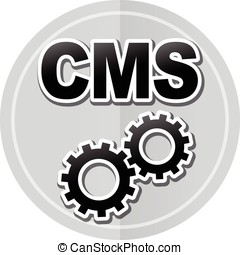 cms sticker icon - Illustration of cms sticker icon simple...
