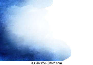 background - Blue abstract watercolor background with space...