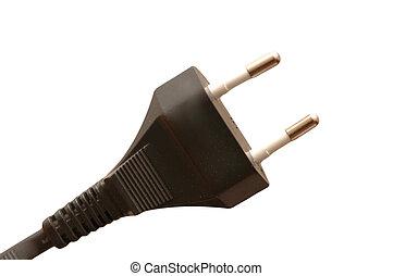 Electric plug isolated on the white backrgound