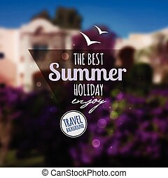 Creative graphic message for your summer designVector...