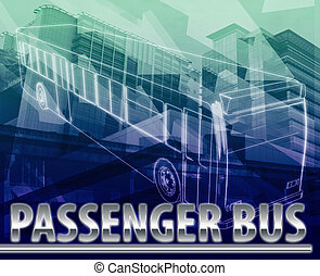 Passenger bus Abstract concept digital illustration -...