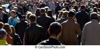 通り, 群集