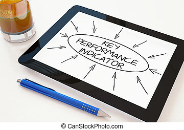 Key Performance Indicator - text concept on a mobile tablet...