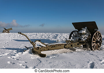 Cannons from Monte Grappa first world war memorial, Italy
