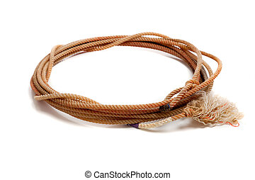 Western lasso on a white background - A western lasso on a...