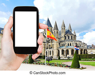 tourist photographs Abbey of Saint-Etienne, Caen - travel...