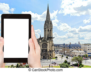 tourist photographs Church of Saint-Pierre, Caen - travel...